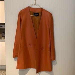 Lafayette 148 Leather Coat